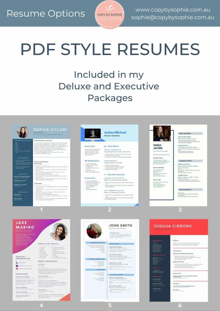 Resume Options